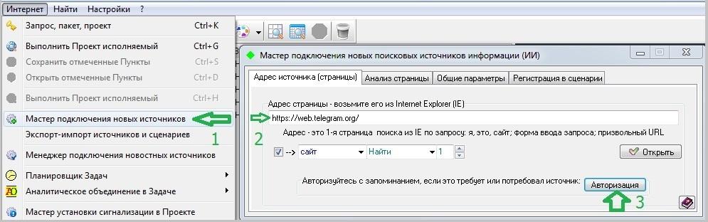 monitoring telegram